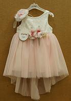Нарядное платье со шлейфом для девочек, Турция