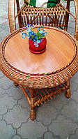 Стол из лозы круглый плетеный, фото 1