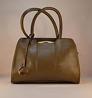 Женская сумка бежевого цвета из кожзама 79071