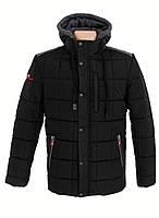 Мужская куртка зимняя с капюшоном черная