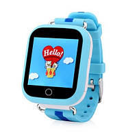 Детские умные gps часы сенсор Smart baby watch Q100s (gw200s) Wifi blue Гарантия 12 мес