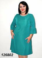 Платье сводобного  кроя, с украшением  48-56р