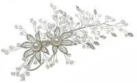Свадебное украшение веточка. Длина 20 см.