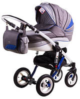 Детская универсальная коляска 2 в 1 ADAMEX Aspena Rainbow Indigo