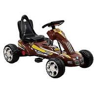 Детский веломобиль педальный M 1560 резиновые колеса