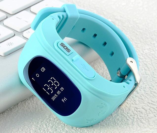 Дитячі розумні годинник Q50 з GPS трекером і функцією телефону (Sky Blue)