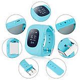 Дитячі розумні годинник Q50 з GPS трекером і функцією телефону (Sky Blue), фото 4