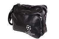 Спортивная сумка UEFA Champions League через плечо формат а4 черная