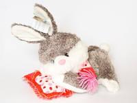 Кролик-копилка музыкальный на подушке