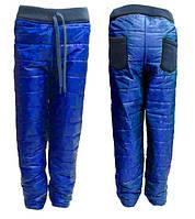 Детские теплые штаны на синтепоне для девочек