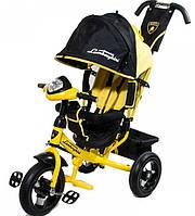 Детский Трехколесный велосипед Lamborghini L2O Air желтый