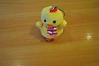 Новорічна, м'яка іграшка курча брелок №2