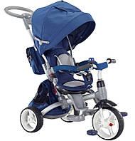 Детский трехколесный велосипед-трансформер 6в1 Sun Baby Little Tiger T500 Blue