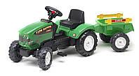 Трактор на педалях с прицепом Falk FARM MASTER 680 зеленый