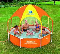 Каркасный бассейн с навесом BESTWAY 56432 Размер 244х51 см, 1688 л