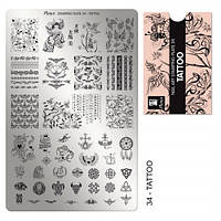 Пластина для стемпинга №34 Tattoo / Тату