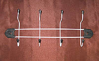 Вешалка настенная для кухни и ванной на 4 крючка