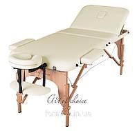 Трехсекционный деревянный переносной массажный стол DEN-Comfort