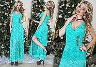 Платье  из дорогого гипюра и подкладкой микромасло