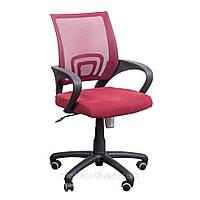 Кресло Веб сиденье Сетка бордовая/спинка Сетка бордовая