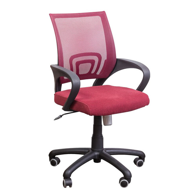 Кресло Веб сиденье Сидней-21/спинка Сетка бордовая.