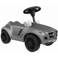 Машинка Каталка с рулем BIG Bobby Car Mercedes Benz SLK серая