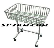 Корзина для распродажи напольная. Белого цвета или серебро  1 м на 50 см