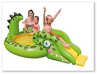 Надувной игровой центр 57132 Крокодил