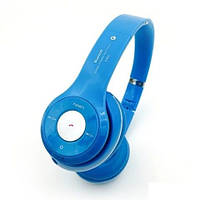 Наушники S460 (bluetooth, mp3) light blue