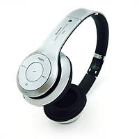 Наушники S460 (bluetooth, mp3) siver