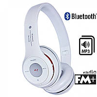 Наушники S460 (bluetooth, mp3) белые