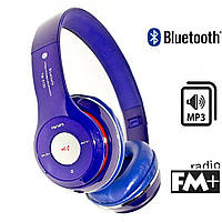 Наушники S460 (bluetooth, mp3) синие