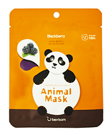Тканевая маска Berrisom Animal Mask - Blackberry