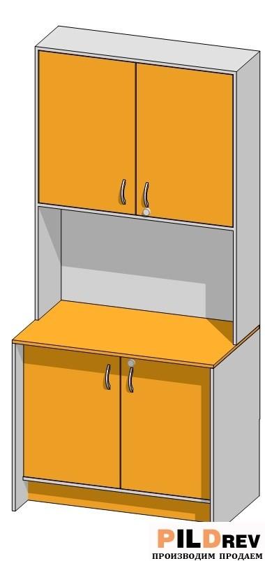 Стіл зі стелажем для аптеки (1000х600х2184 мм)