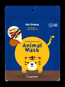 Тканевая маска Berrisom Animal Mask - Red Ginseng