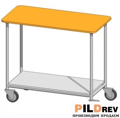 Стол на колесиках для аптеки (1000х500х850мм)