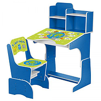 Регулируемая детская парта растишка со стульчиком Bambi 2071-8 синяя