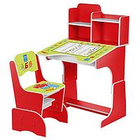 Регулируемая детская парта растишка со стульчиком Bambi 2071-4 красная