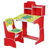 Регулируемая детская парта растишка со стульчиком Bambi 2071-7 красная