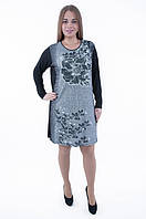 Платье-туника, цвет - темно-серый, 56-60 р-ры, 390/365 (цена за 1 шт. + 25 гр.)