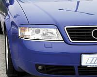 Реснички Audi A6 C5, накладки на фары Ауди А6 Ц5