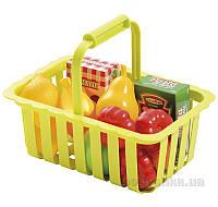 Детская корзинка для супермаркета с продуктами Ecoiffier 000981