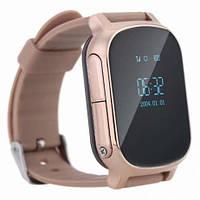 Умные gps часы Smart baby watch t58 Gold Wifi, Gps premium для подростков, детей и взрослых на русском