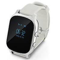 Умные gps часы Smart baby watch t58 Silver Wifi, Gps premium для подростков, детей и взрослых  на русском