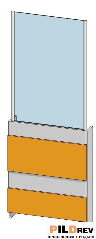 Калитка со стеклом (700х1800мм)