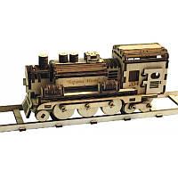 Деревянный набор-конструктор F-010. ПАРОВОЗ