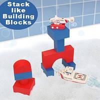 """Набор плавающих блоков для ванны """"Береговая Охрана - Лодка и вертолет"""" 3+, Just Think Toys"""