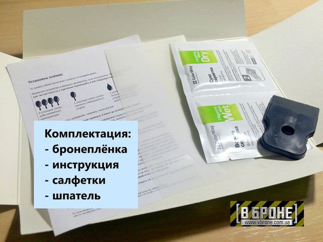 Комплектация защитной плёнки