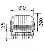 Аксессуар для мойки Blanco Корзина для посуды (220573)