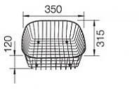 Аксессуар для мойки Blanco Корзина для посуды (514238)